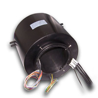 Through hole slip ring